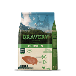 Bravery Pollo Adulto Raza Mediana-Grande 12 kg