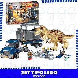 Tiranosaurio Rex Transporte Set Tipo Lego Jurassic World