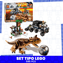 Carnotaurus Gyrosphere Escape Set Tipo Lego Jurassic World