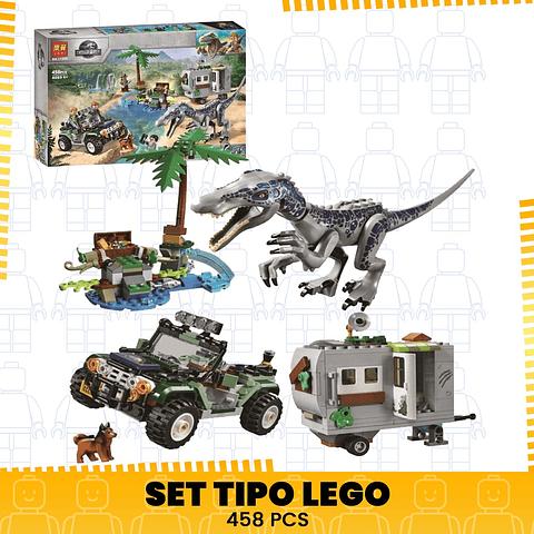 Encuentro Con El Baryony Escape Set Tipo Lego Jurassic World