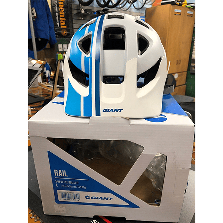 Casco Giant Rail Blanco / Azul- Image 3