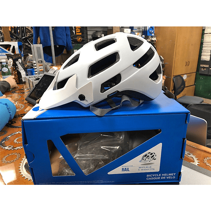 Casco Giant Rail Blanco / Azul- Image 4