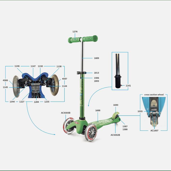 1144 Scooter Mini y Maxi / Pieza de Giro Izquierda- Image 3