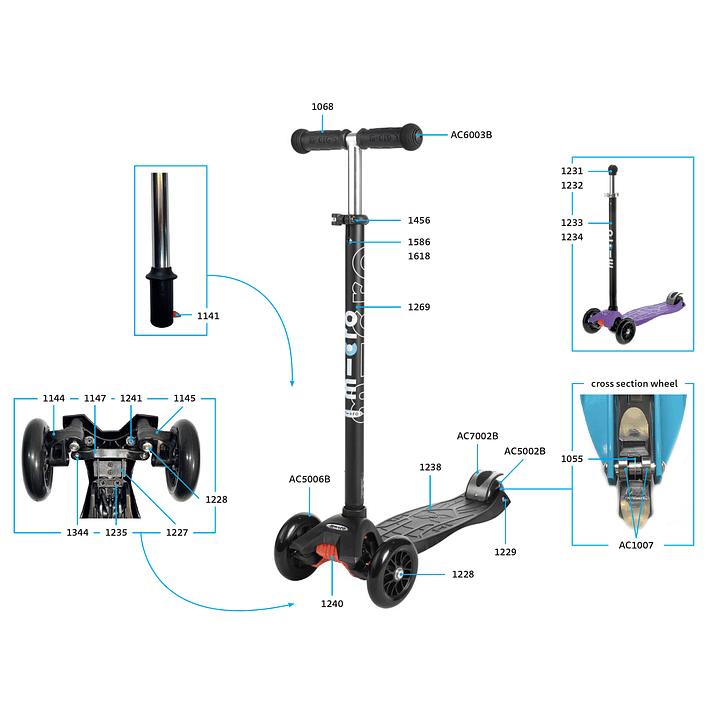 1147 Scooter Mini y Maxi / Eslabón de Dirección- Image 4