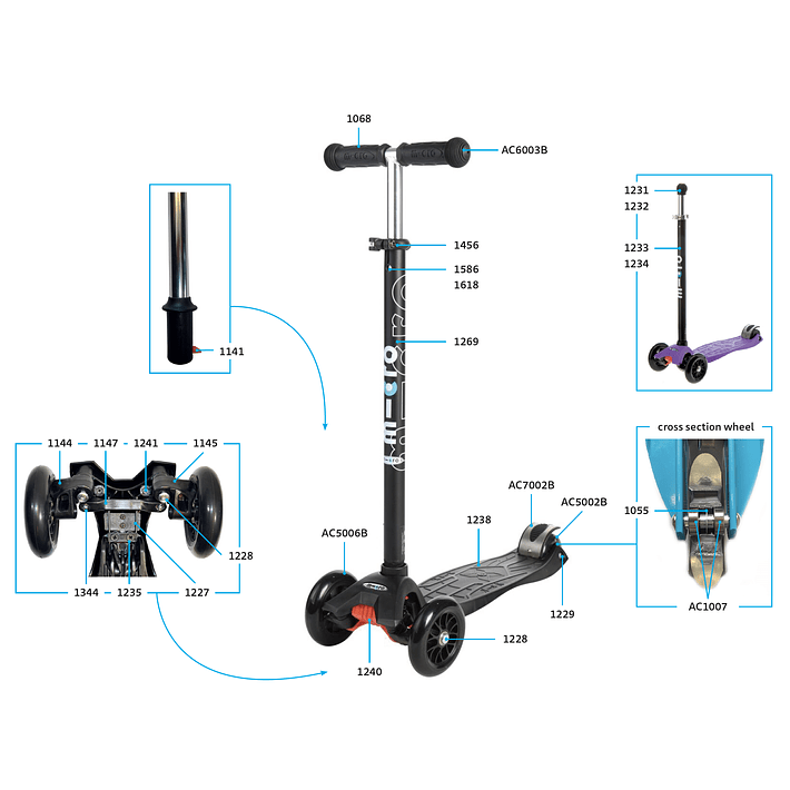 1150 Scooter Mini y Maxi / Tornillo Fijación Base (8un)- Image 4
