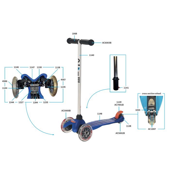 1227 Scooter Mini y Maxi / Doblado Par de Piezas Base- Image 2