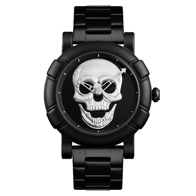 Reloj Hombre Skull Cuarzo Acero Inoxidable SKMEI 9178
