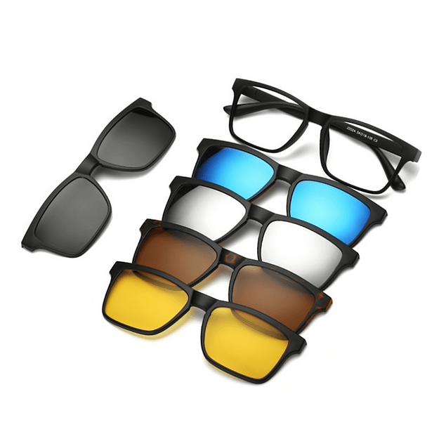 diseño atemporal 4697c b9cdc Gafas Lentes Sol Magneticas Desmontables 5 Piezas Polarizadas