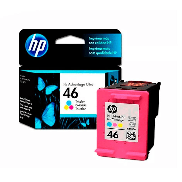 Tinta HP CZ638 46 COLOR