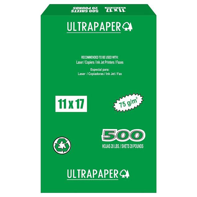 "Papel UltraPaper 11"" x 17"""