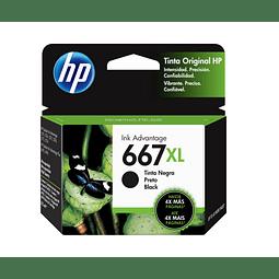 Tinta HP 3YM81 667 BK XL