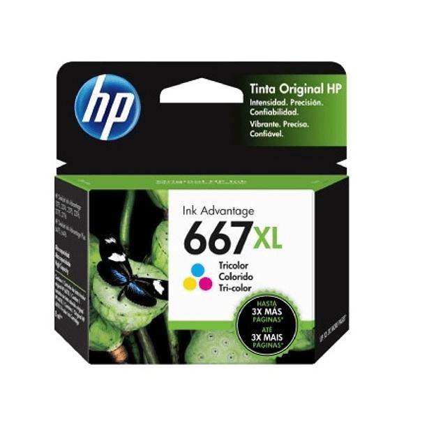 Tinta HP 3YM80 667 COLOR XL
