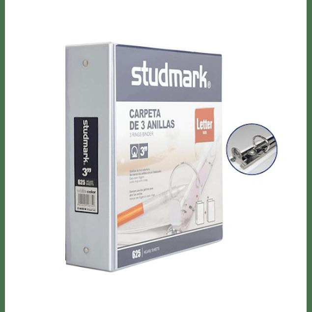 "Carpetas Studmark Blanco 3"" ST-00109-W"