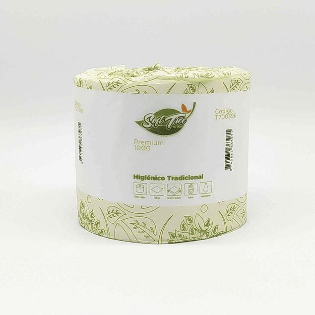 Papel Higiénico Soft Tree 1000 hojas sencillas