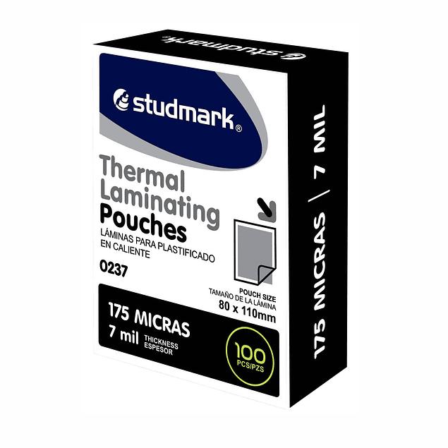 Láminas para Plastificar Studmark 80x110mm 175 Mic