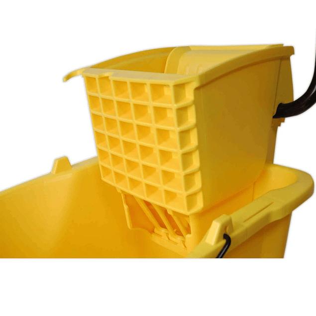 Cubo Exprimidor 36 Cuartos Amarillo SiClean
