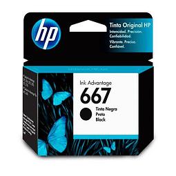 Tinta HP 3YM79 667 BK