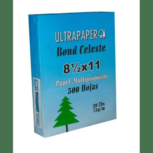Papel bond Carta Celeste Ultra Paper