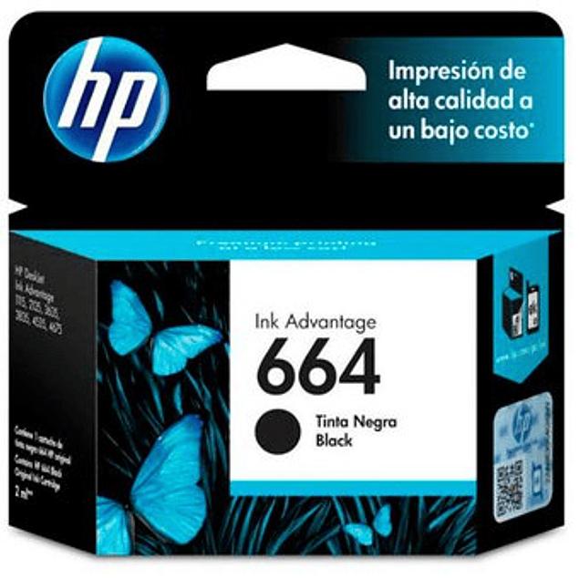 Tinta HP F6V29 664 BK
