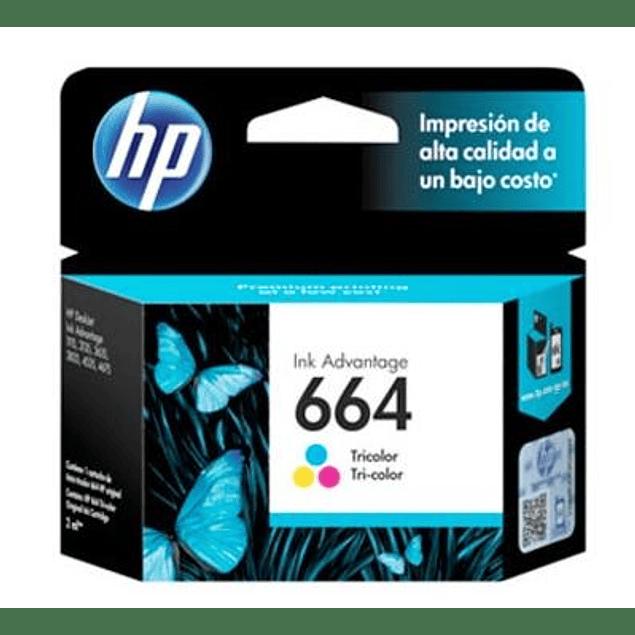 Tinta HP F6V28 664 COLOR