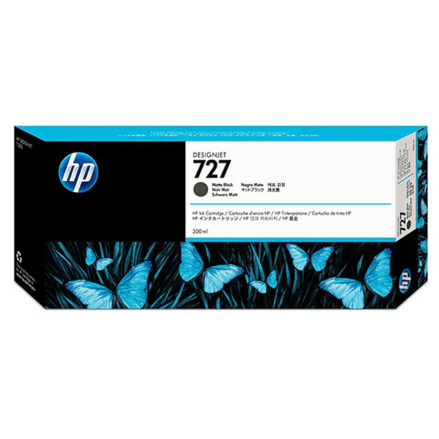 Tinta HP C1Q12A 727 BK Matte