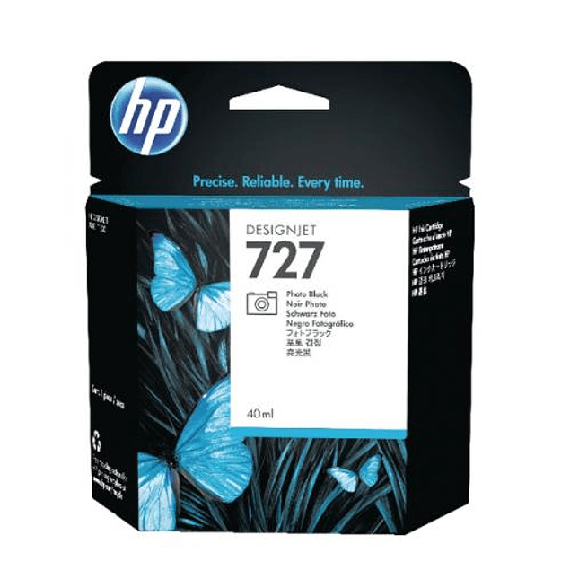 Tinta HP B3P23A 727 BK Photo
