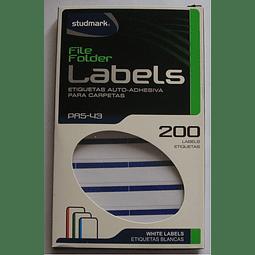 Etiquetas Studmark Azul ST-PRS-43