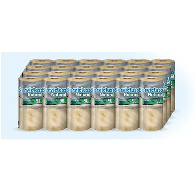 Papel toalla Serviclass 90 hojas dobles natural