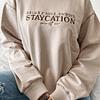 STAYCATION HODDIE-OVERSIZE POLO CAMEL