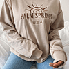 PALM SPRINGS HOODIE-OVERSIZE POLO CAMEL