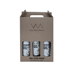 Box 3 botellas de 250ml aceites Premium