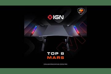 El Escritorio gamer Mars de Cougar en la cima mundial