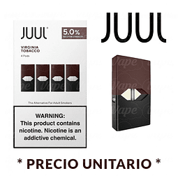 Juul Cartridge POD / Virginia Tobacco (1un) 5%