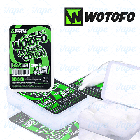 Algodón Wotofo Xfiber Profile 30pcs 3mm