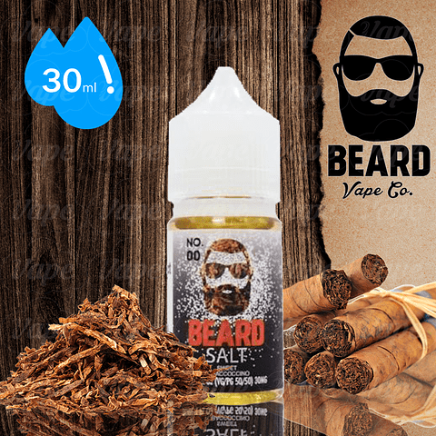 Beard No 00 Tobaccoccino Salt 30ml 30mg