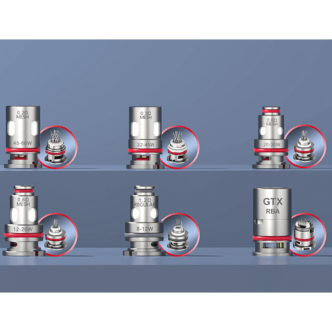 Vaporesso GTX Coil Comercial / Desechables