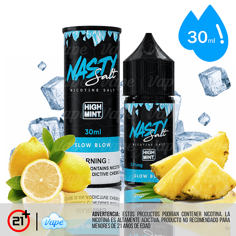 Nasty Juice High Mint Salt - Slow Blow 30ml