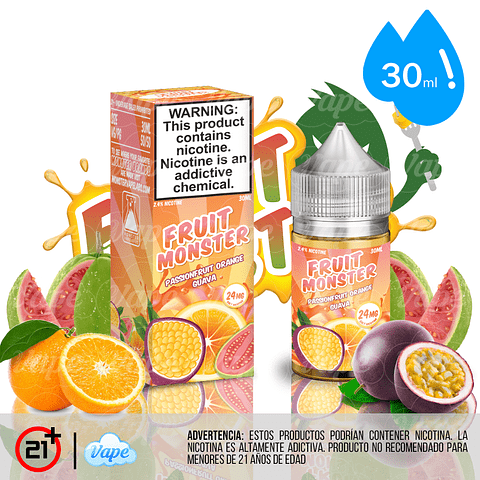 Fruit Monster Salt - Passionfruit Orange Guava 30ml