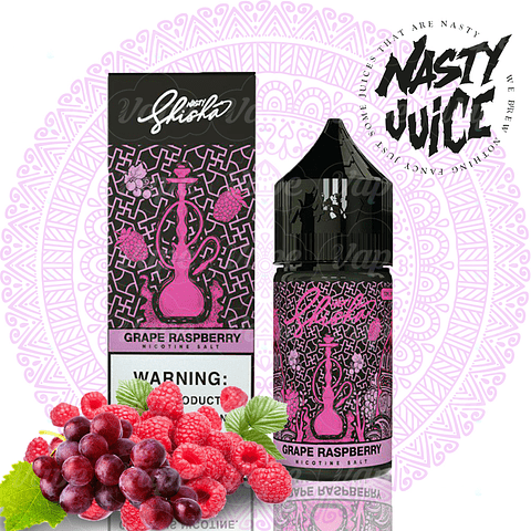 Nasty Shisha Salt - Grape Raspberry 30ml