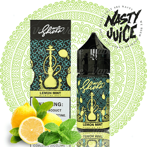 Nasty Shisha Salt - Lemon Mint 30ml