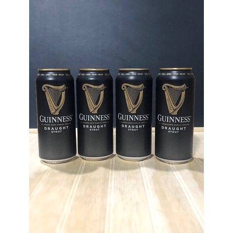GUINNESS DRAUGHT STOUT 4X440CC