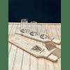 TABLA DEGUSTACIÓN ARTESANAL + 3 VASOS CRISTAL LAWRENCE  + 3 STEAM BREW 500CC