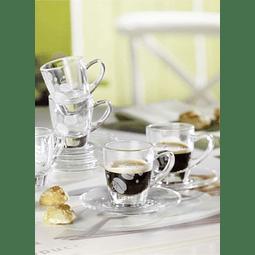 CAFE ESPRESSO SET 6 TAZAS + 6 PLATOS