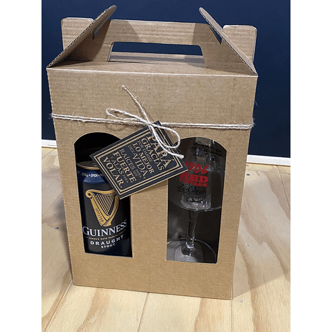 SET REGALO COPA TEKU RED VINTAGE 300CC + GUINNESS DRAUGHT STOUT 440CC