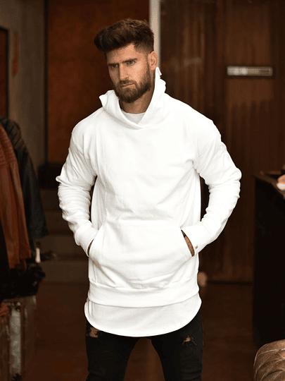 Poleron Canguro Blanco