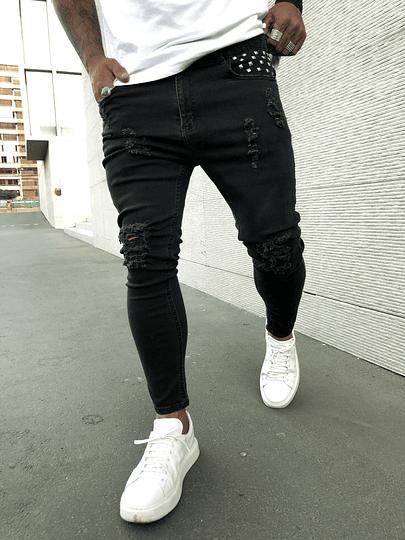 Jeans Roma con Tachas