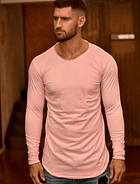 Polera Bengala Manga Larga Rosa Chicle