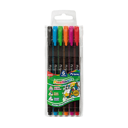 Set fineliners 6 colores torre