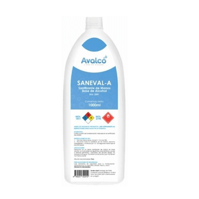 Alcohol Gel 1 Litro Antibacterial Marca Avalco