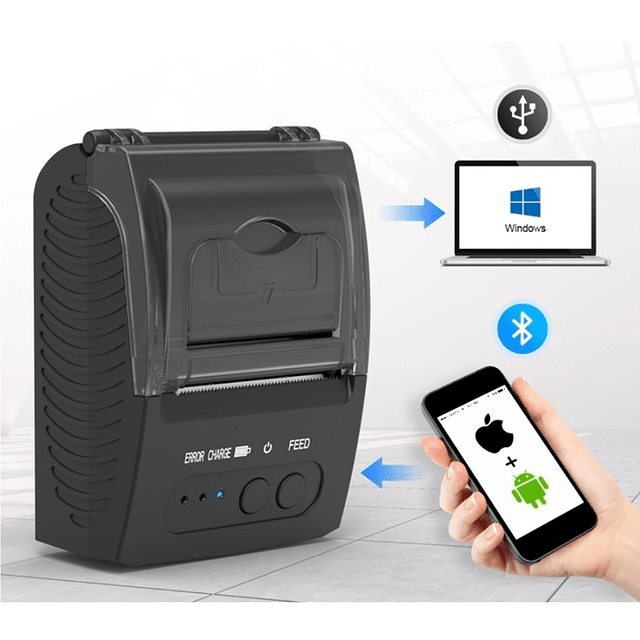 Impresora Boleta Térmica Bluetooth Portátil 58mm Recargable